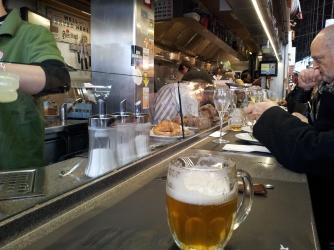 The counter at Bar Pinotxo, Mercado del Boqueria