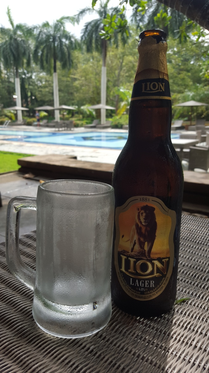 Lion Lager by the pool, Cinnamon Lodge Habarana