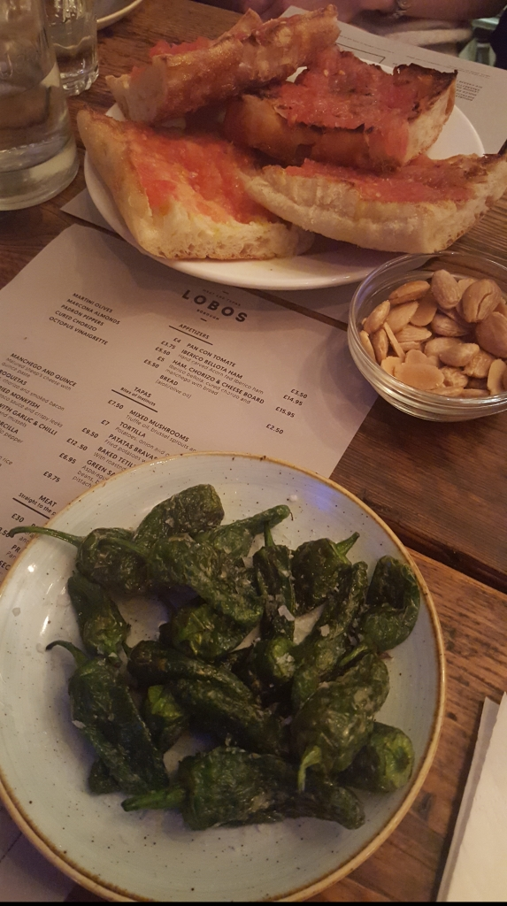 Padron peppers in Lobos Meats and Tapas, Borough