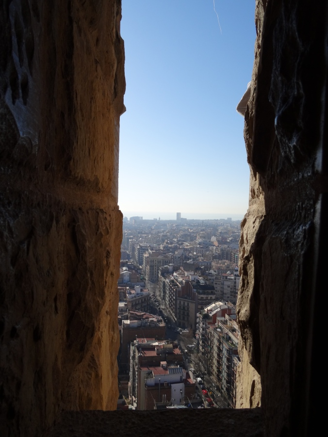 View from the tower of la Sagrada Familia, Barcelona
