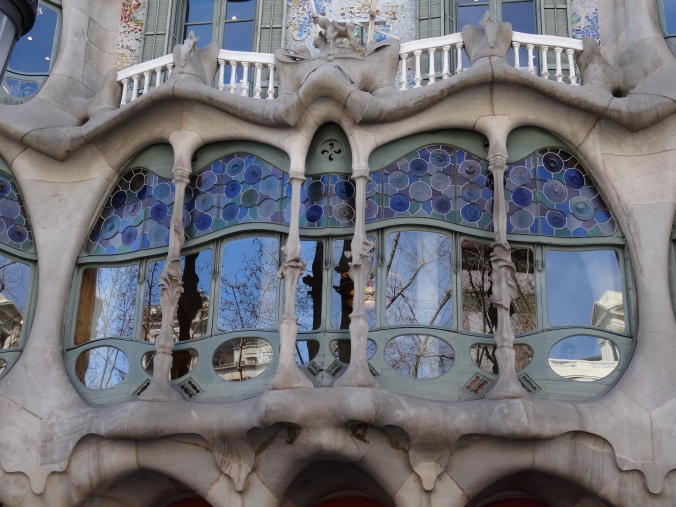 Window detail of Casa Batllo by Antoni Gaudi, Barcelona