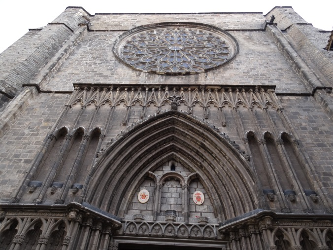 The West door and rose window of Santa Maria del Pi, Barcelona