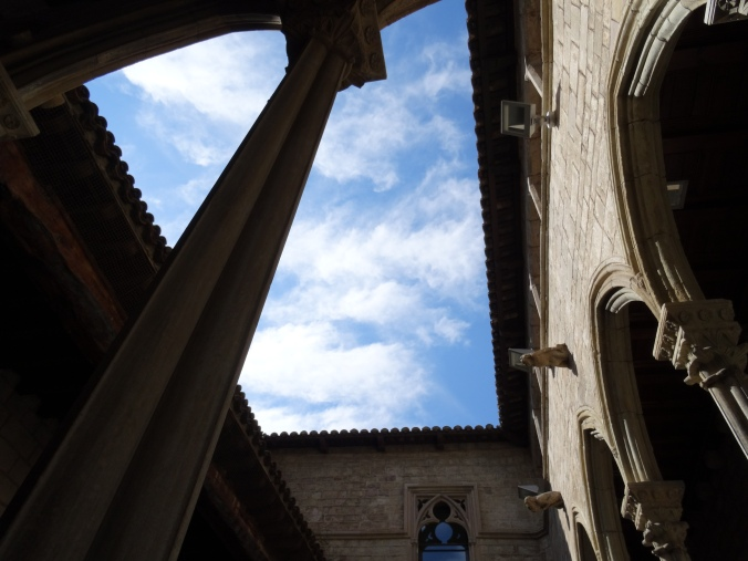 Internal courtyard in the Picasso Museum, Barcelona