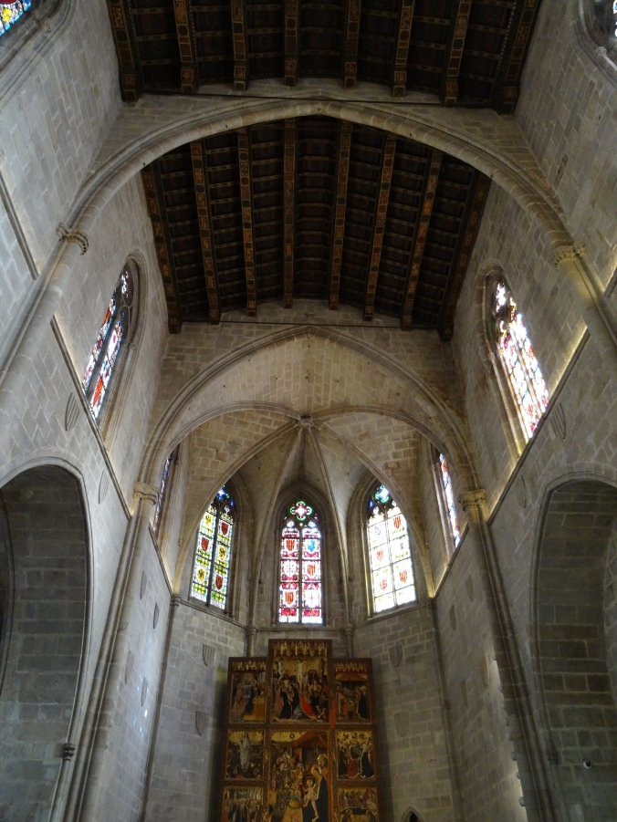 The 14th Century Saint Agatha chapel in MUHBA, Barcelona