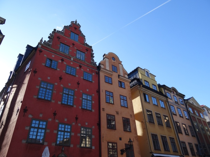 Colourful houses in Gamla Stan, Stockholm