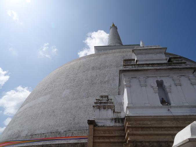 Lime plastered dagoba Anuradhapura, Sri Lanka