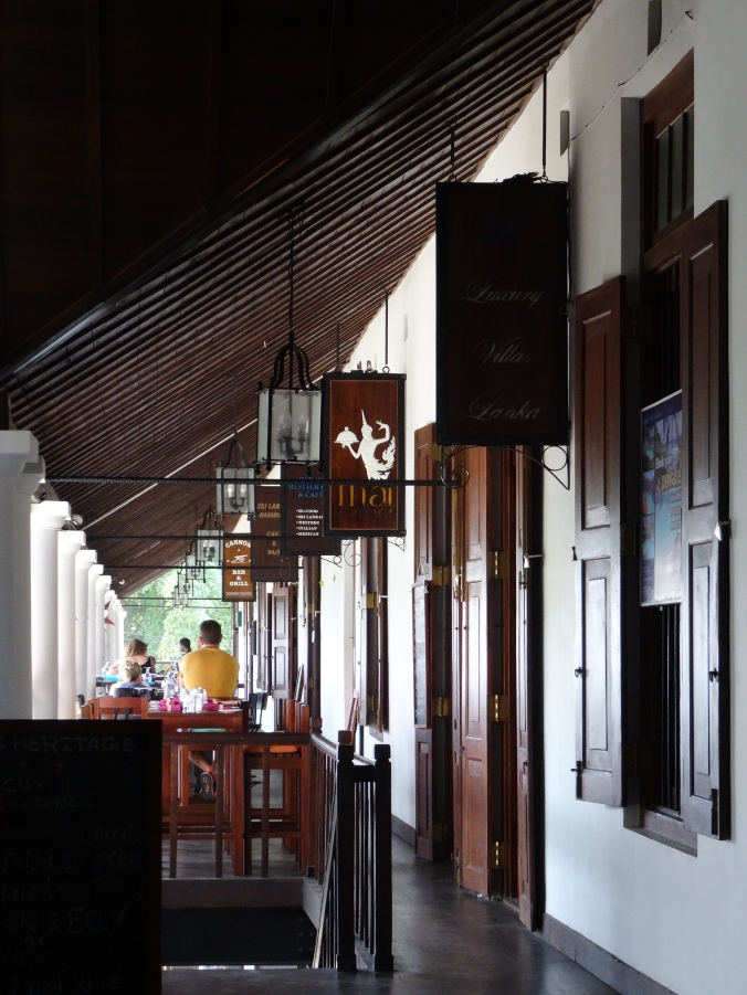Shops inside the Dutch Hospital in Galle Fort