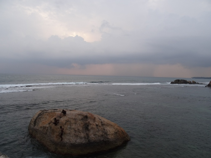 Sunset over the sea at Galle Fort
