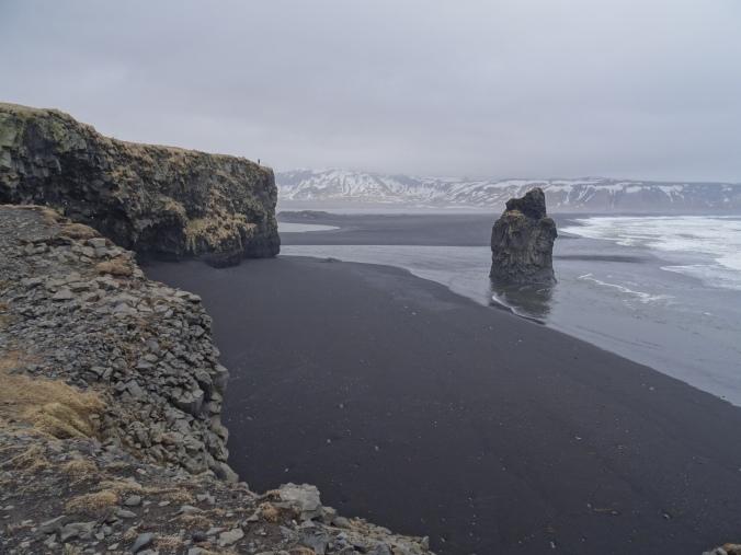 Volcanic rock formations at Dyrhólaey, Iceland