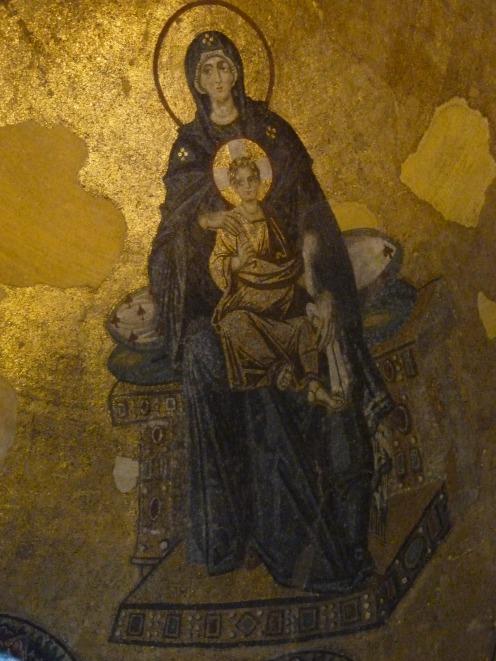 Mosaics inside Hagia Sophia, Istanbul