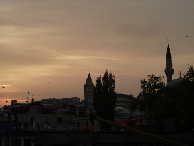 Galatea Tower at sunset, Istanbul