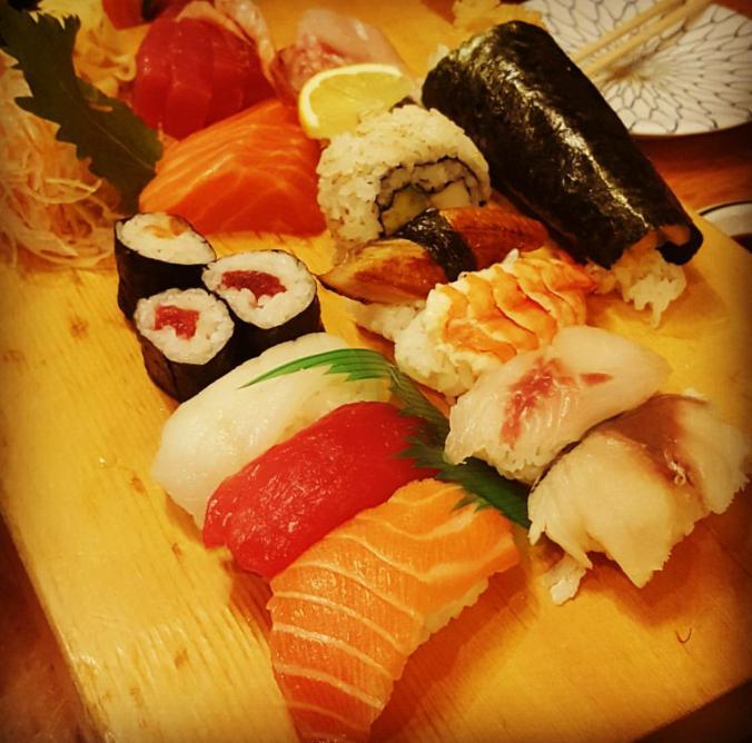 Sushi selection at Ten Ten Tei, Soho, London