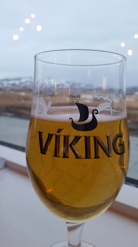 Enjoying a Viking lager