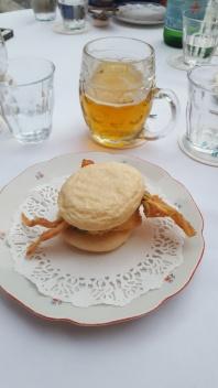 Softshell crab and beer at Sansho