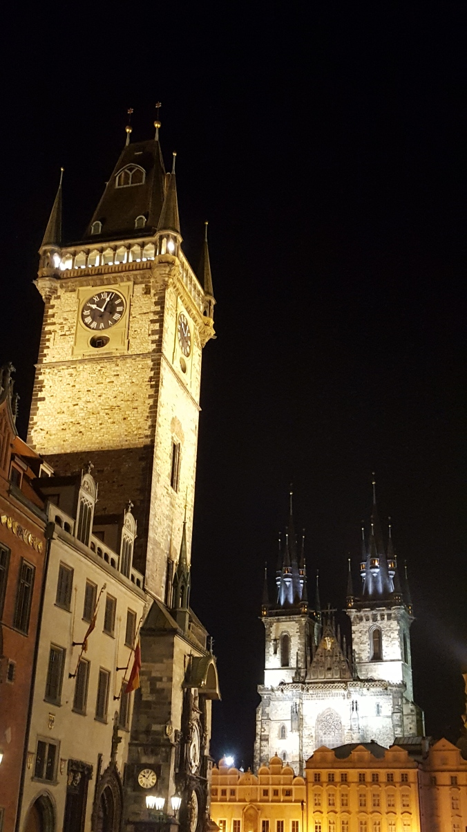 Prague Old Town Square at night