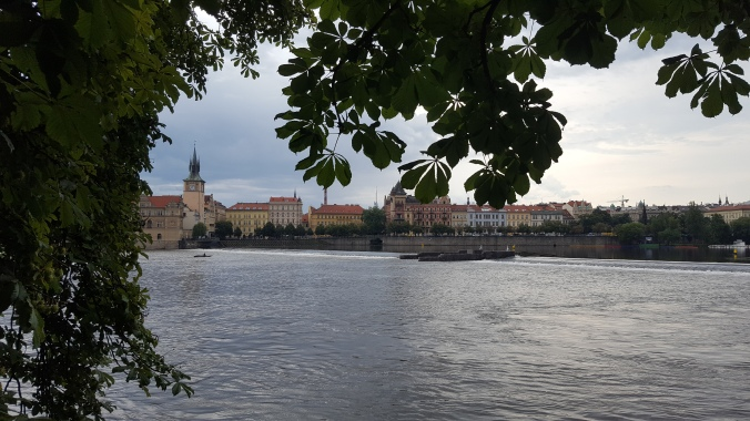 Prague across the river from the Kampa Museum