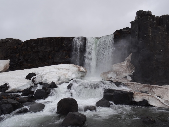 Öxarárfoss falls at Þingvellir National Park, Iceland