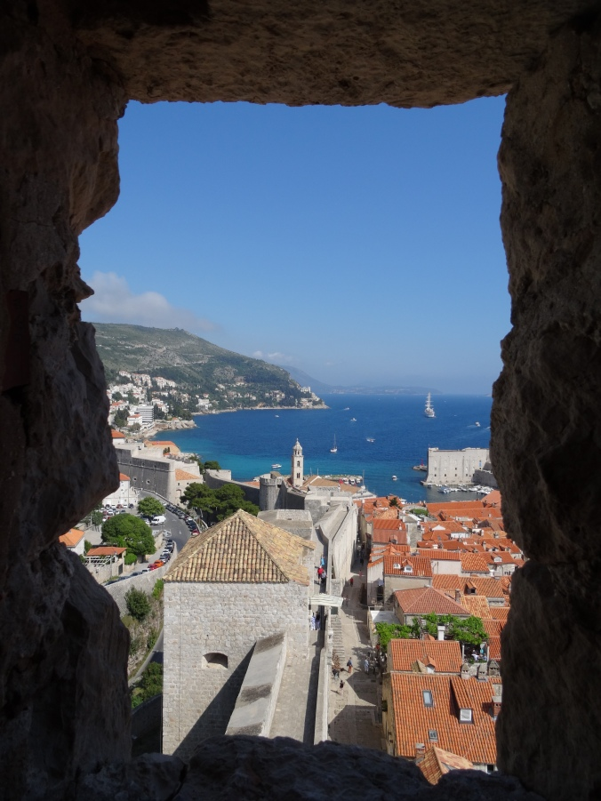 The view from Minceta Fortress on Dubrovnik city walls
