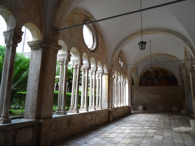 Romanesque cloister in the Franciscan Monastery, Old Town Dubrovnik