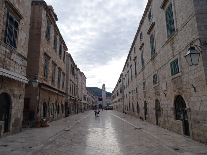 Smooth paving on Stradun, Old Town Dubrovnik