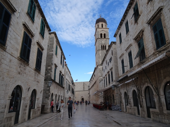 Early morning on Stradun, Old Town Dubrovnik