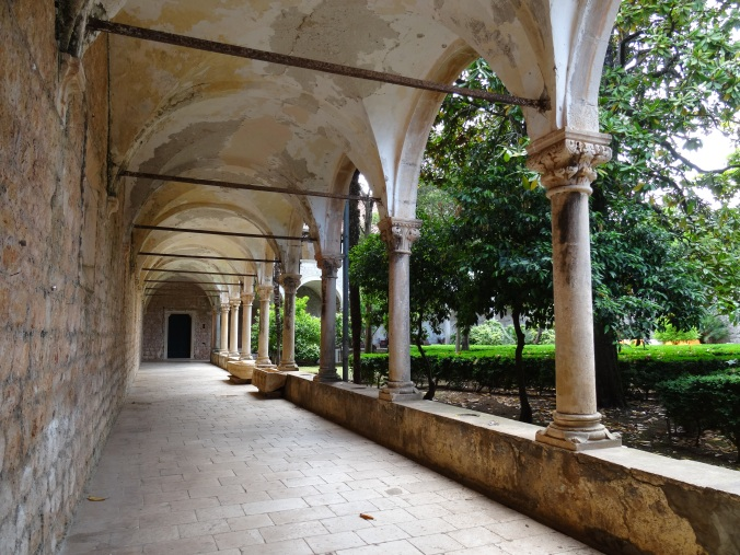 Cloisters in Lokrum's monastic complex