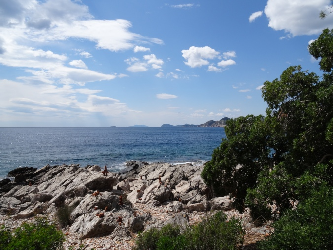 Views out to sea from Lokrum Island, Dubrovnik