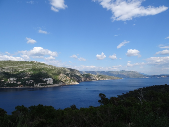 Views along the coast from Lokrum's Fort Royal