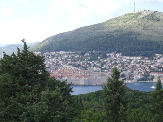 View of Dubrovnik from Royal Fortress, Lokrum