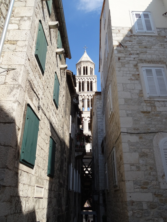Side streets and the bell tower, Split