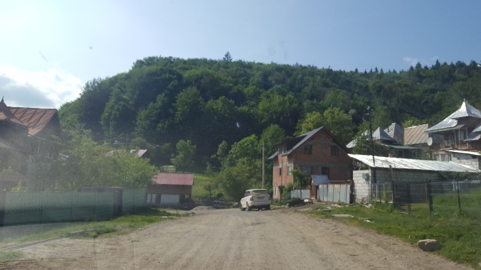 Unpaved Romanian road