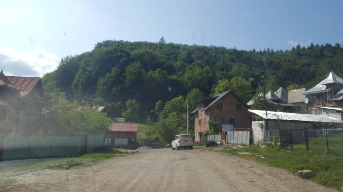 Unpaved Romanian road