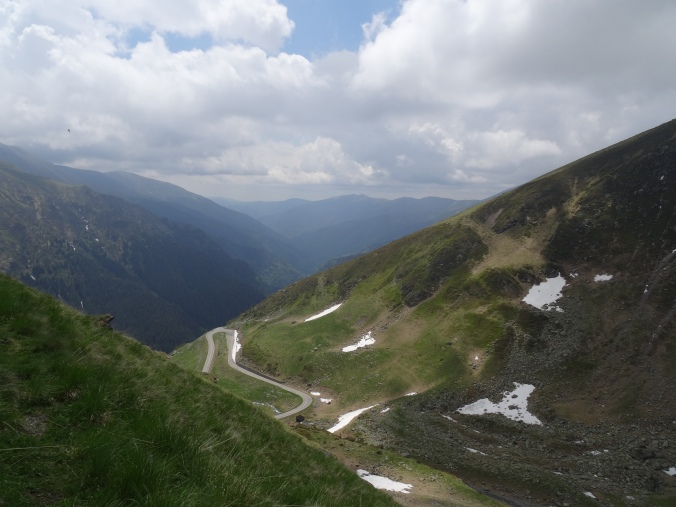 Looking back down the Transfăgărășan Highway