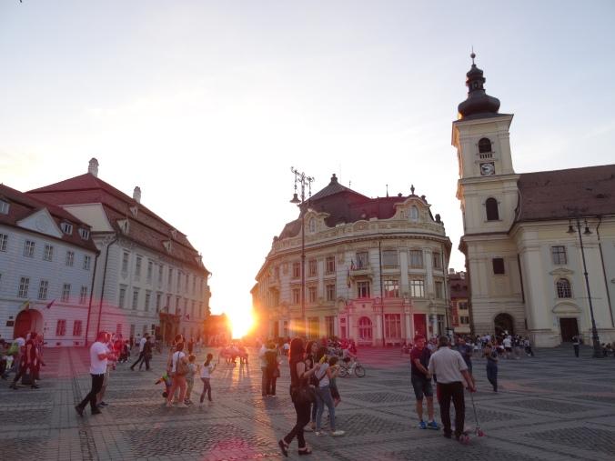 Sibiu central square, Romania