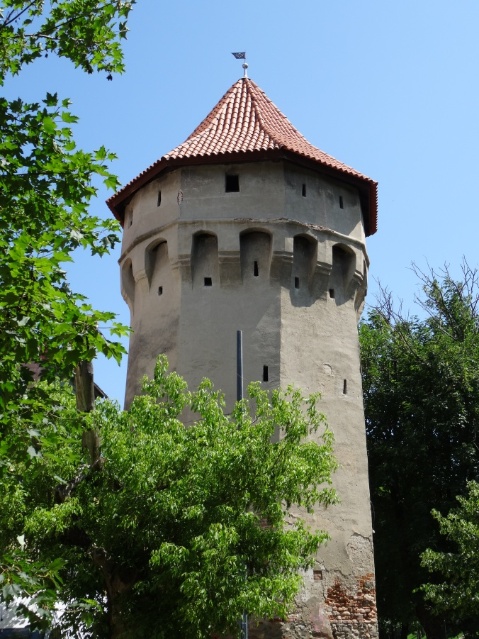 Tower in the fortified walls which surrounded the medieval city of Sibiu