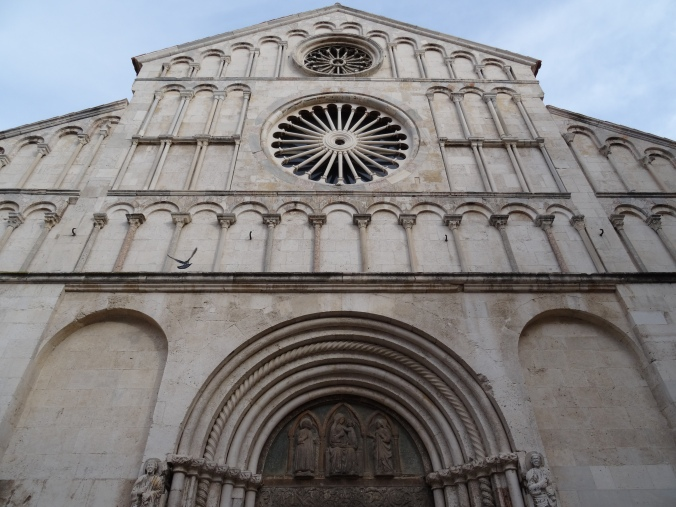 Facade of the Cathedral of St Anastasia, Zadar