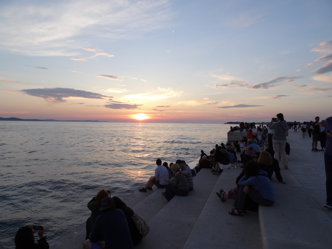 Sunset over Zadar