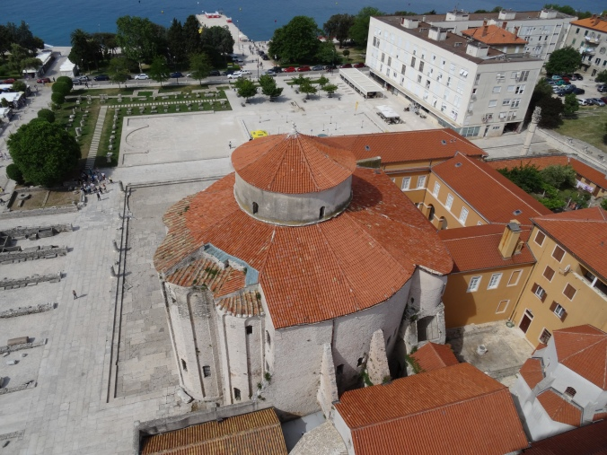 View of the Church of St. Donatus from the Cathedral bell tower, Zadar