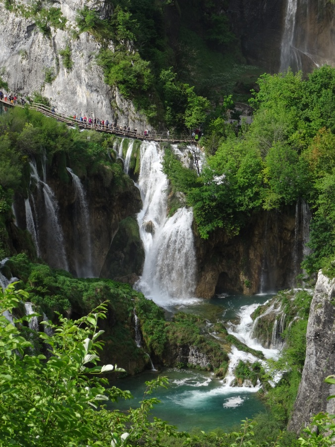 Boardwalks and waterfalls in Plitvice National Park