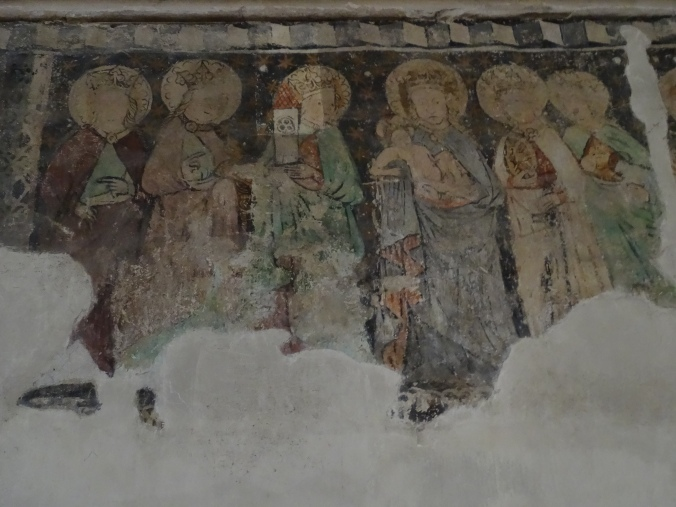 Remnants of 14th century wall painting in Cluj-Napoca's St. Michael's Church