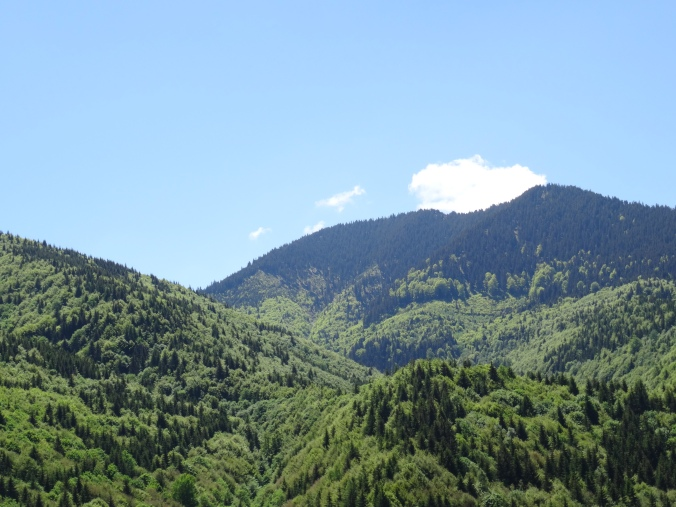 The Carpathian Mountains seen from the foot of the Tihuta ('Borgo') Pass