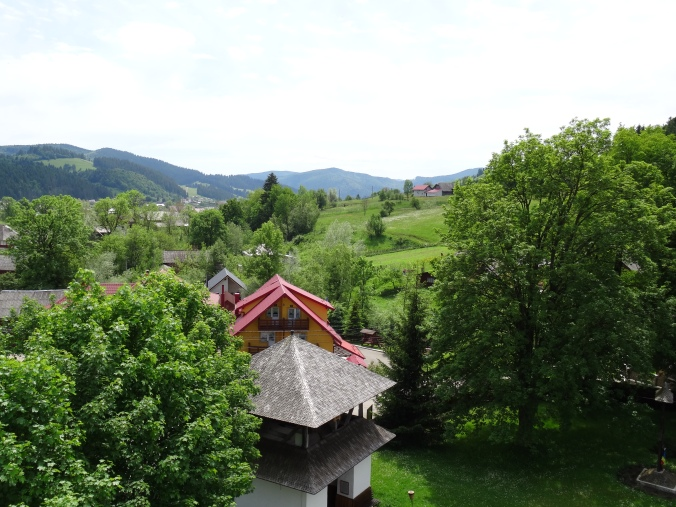 View of the countryside from the watch tower at Humor Monastery