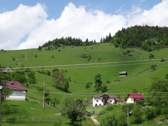 A hillside in the town of Măgura in the Piatra Craiului National Park
