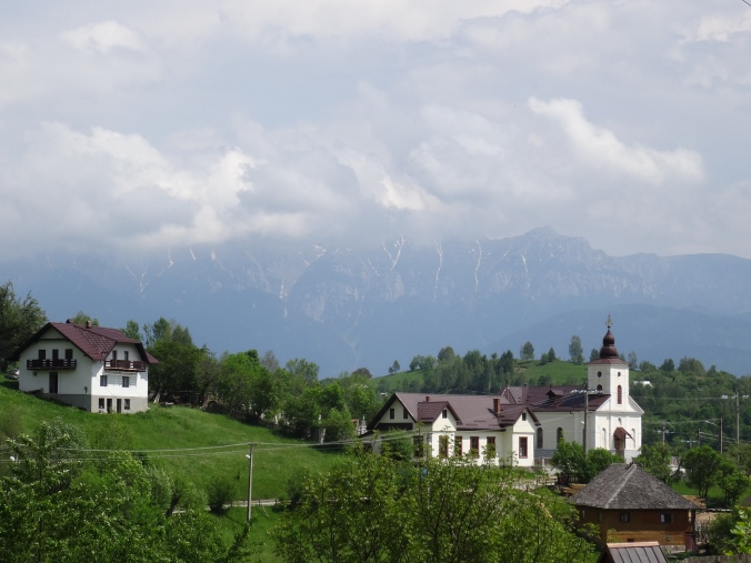Măgura with mountains in the distance, Romania