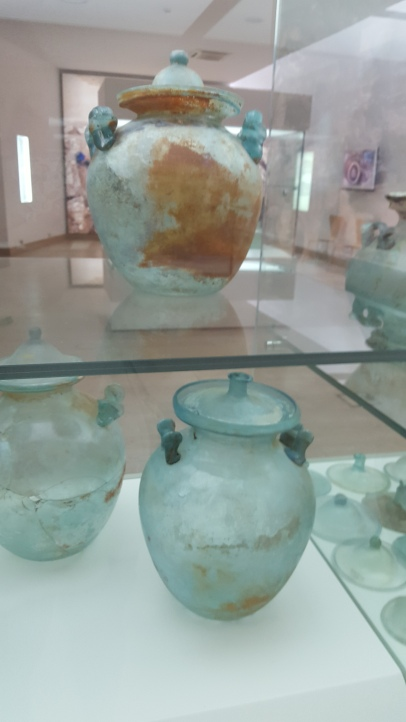 Roman glass cinerary urns, Zadar Museum of Ancient Glass