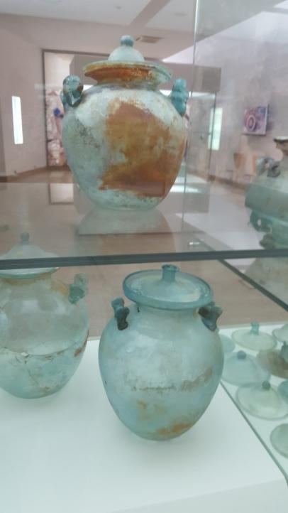 Roman glass cinerary urns, Zadar Museum of Ancient Glass