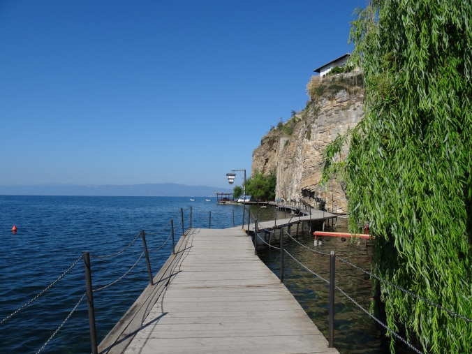 The boardwalk round to Kaneo Beach, Ohrid