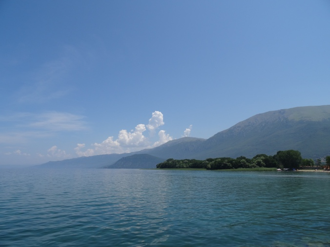 View of Lake Ohrid from St Naum Monastery