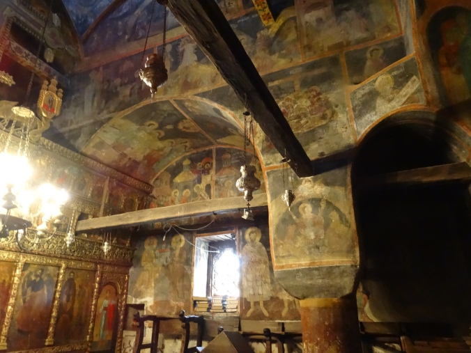 Frescoes inside St Naum Monastery
