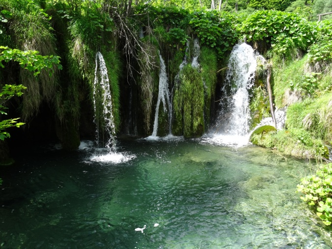 Smaller waterfalls in Plitvice National Park